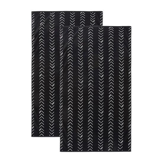 Loom + Forge Chevron Organic Cotton Jacquard 2-Pack Beach Towel