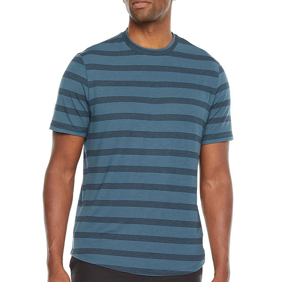 Stylus Mens Stretch Crew Neck Striped Short Sleeve T-Shirt