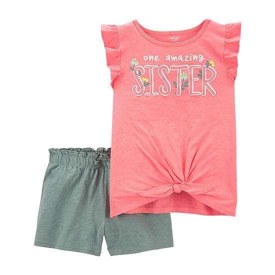 Carter's Little & Big Girls 2-pc. Short Set