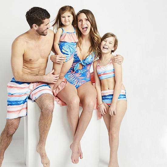Peyton & Parker Watercolor Family Matching Swimwear
