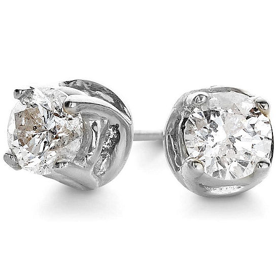 2 CT. T.W. Diamond Swirl Studs 14K Gold