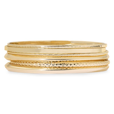 Liz Claiborne® Gold-Tone 6-pc. Bangle Bracelet Set