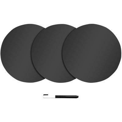 Set of 6 Dry-Erase Dot Wall Decals