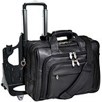 "McKleinUSA Gold Coast 17"" Leather Detachable -Wheeled Laptop Briefcase"
