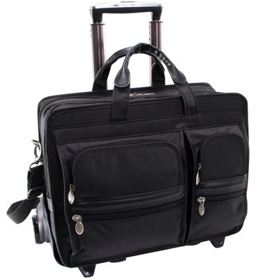 "McKleinUSA Clinton 17"" Nylon Detachable -Wheeled Laptop Briefcase"