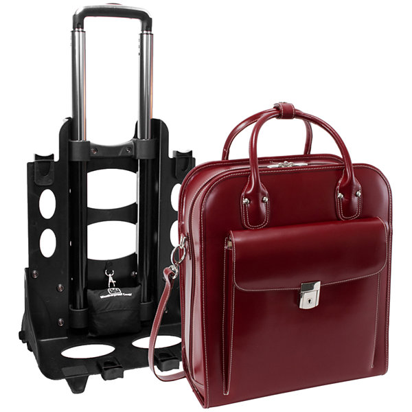 "McKleinUSA La Grange 15.4"" Leather Vertical  Detachable -Wheeled  Laptop Briefcase"