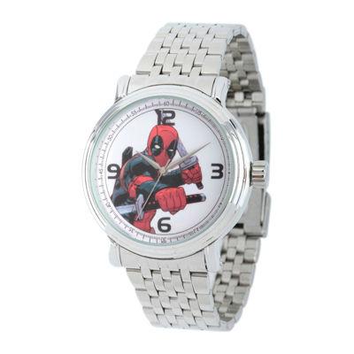 Marvel® Mens Deadpool Sword Silver-Tone Stainless Steel Bracelet Watch