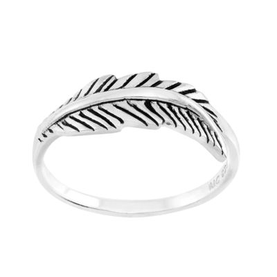 itsy bitsy™ Sterling Silver Feather Pinky Ring