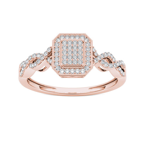 1/5 CT. T.W. Diamond 10K Rose Gold Engagement Ring
