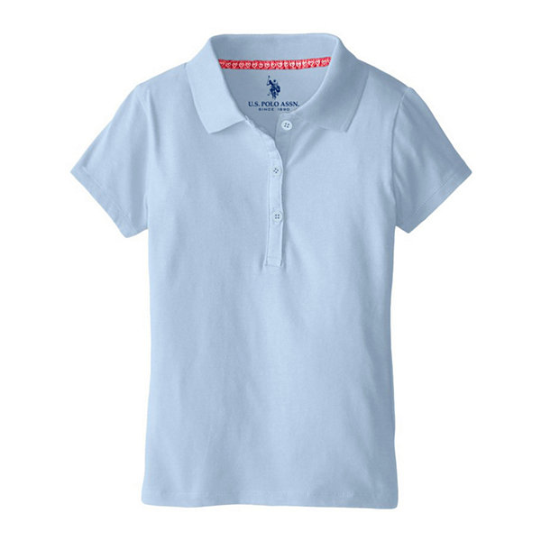 U.S. Polo Assn.® Short-Sleeve Stretch Knit Polo - Preschool Girls 4-6x