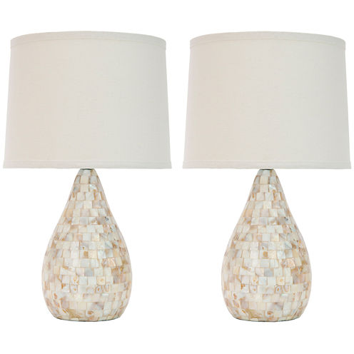 Matilda Ivory Capiz Shell Lamp- Set of 2