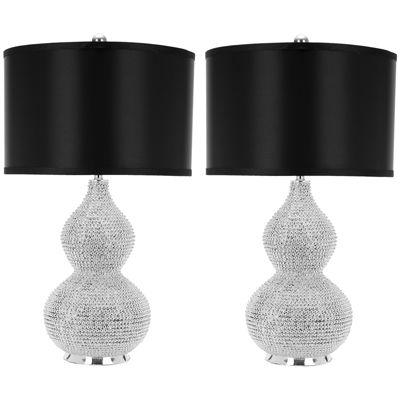 Mirabelle Bead Base Lamp- Set of 2