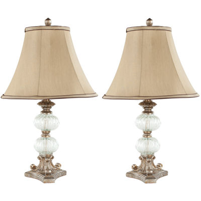 Patricia Glass Globe Table Lamp- Set of 2