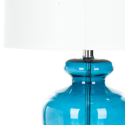 Yadira Morocco Blue Glass Table Lamp- Set of 2