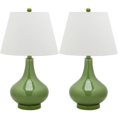 Chloe Gourd Glass Lamp- Set of 2