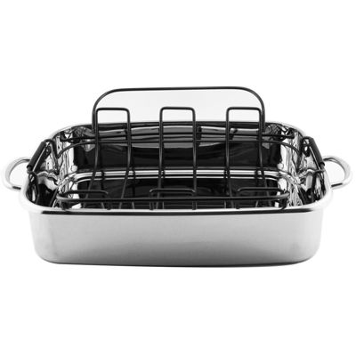 "BergHOFF® 15"" Stainless Steel Roaster Pan"
