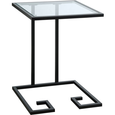 Royce Glass-Top Accent Table