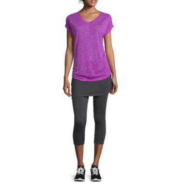 jcpenney.com | Xersion™ Studio Short-Sleeve Dolman Tee or Skirted Compression Capris