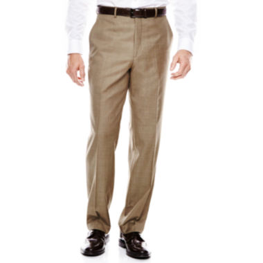 Stafford® Travel Sharkskin Flat-Front Suit Pants - Classic Fit