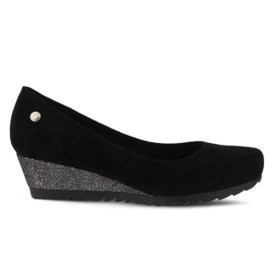 Spring Step Womens Osana Pumps Round Toe Wedge Heel