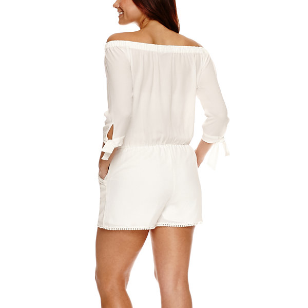 Bisou Bisou Off the Shoulder Romper