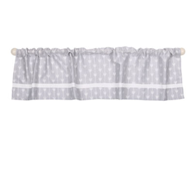 The Peanut Shell Peanut Shell Mix And Match Rod-Pocket Valance