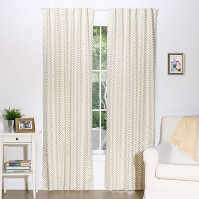 The Peanut Shell Mix And Match Rod-Pocket Curtain Panel
