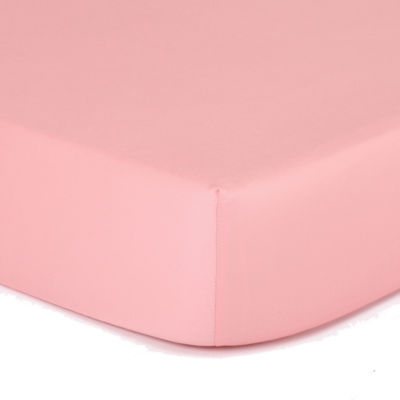 The Peanut Shell Peanut Shell Mix And Match Solid Crib Sheet - Coral