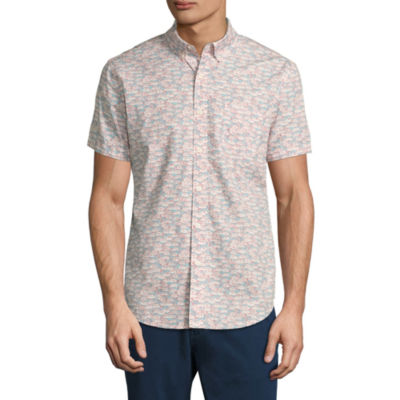 Arizona Short Sleeve Pattern Button-Front Shirt