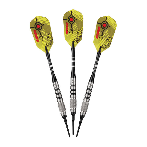 Viper Ranger Tungsten Soft Tip Darts Knurled And Ringed Barrel 14 Grams