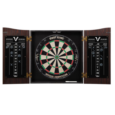 Viper Vault Dartboard Cabinet With Shot King SisalDartboard
