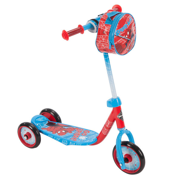 Huffy Marvel Spider-Man 3-Wheel Scooter with Handlebar Bag