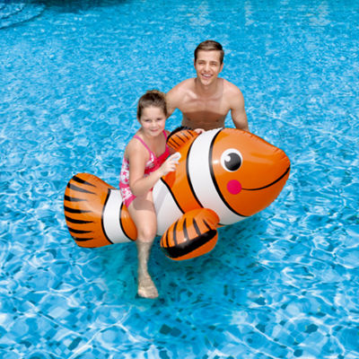 Blue Wave Clown Fish 67-in Inflatable Ride-On PoolToy