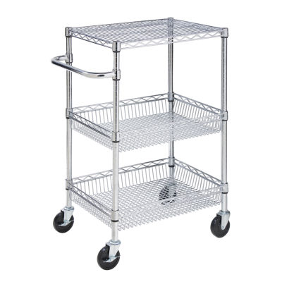 Honey-Can-Do® 3-Tier Urban Rolling Utility Storage Cart