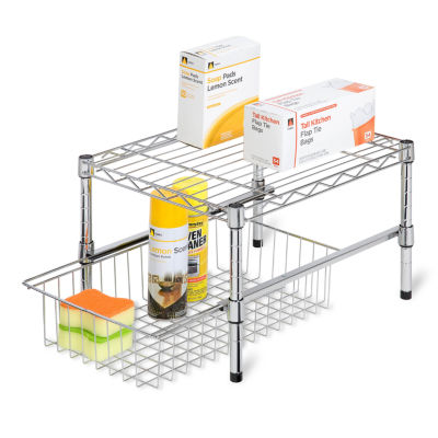 Honey-Can-Do® Adjustable Shelf + Under Cabinet Organizer