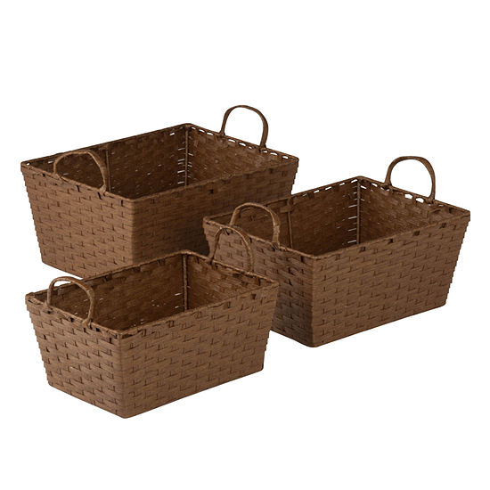 Honey Can Do Set Of 3 Paper Rope Baskets