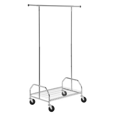 Honey-Can-Do® Heavy-Duty Bottom Shelf Garment Rack