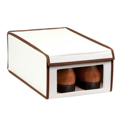 Honey-Can-Do® Natural Canvas Medium Window Shoe Box