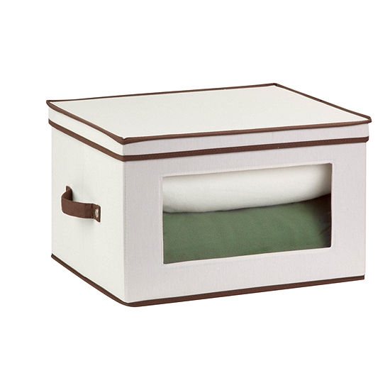 Honey-Can-Do® Natural Canvas Tall Window Storage Box