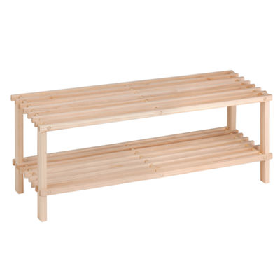 Honey-Can-Do® 2-Tier Wood Shoe Rack