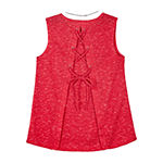 by&by girl Girls Crew Neck Sleeveless Blouse Big Kid