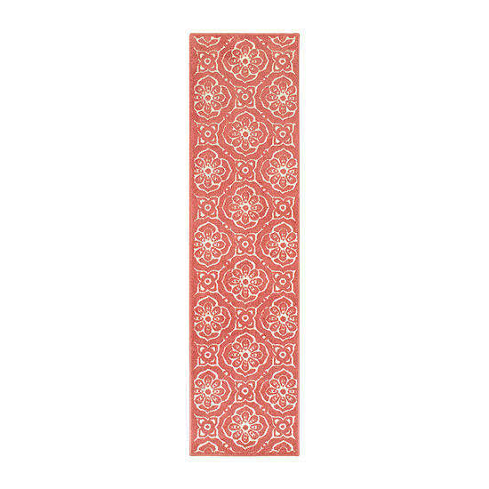 Covington Home Bardot Faded Floral Rectangular Indoor/Outdoor Rugs