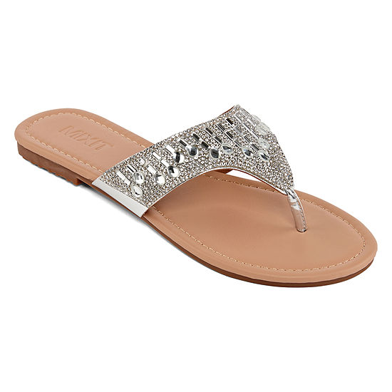 Mixit Womens Tear Drop Shield Flip-Flops
