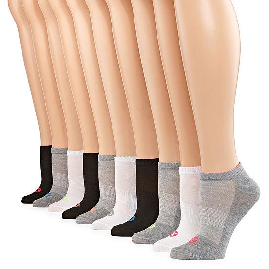 Xersion Womens 10 Pk Athletic No Show Socks
