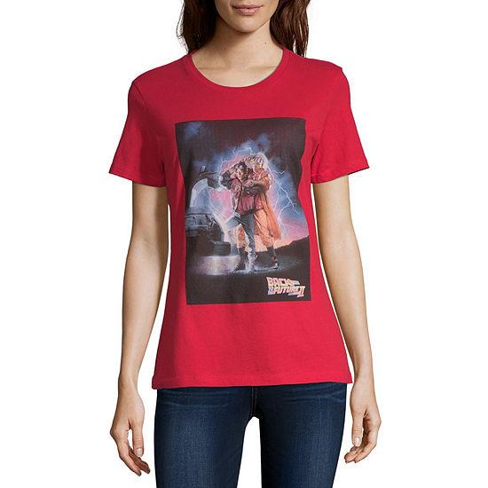 Crew Neck Short Sleeve Graphic T-Shirt-Juniors