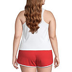 Juniors Plus Womens Crew Neck Sleeveless Tank Top