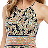 London Style Sleeveless Paisley Maxi Dress