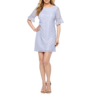 R & K Originals Short Sleeve Sheath Dress-Petite