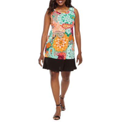 Ronni Nicole Sleeveless Paisley A-Line Dress-Petite