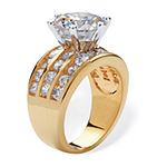 Womens 4 CT. T.W. White Cubic Zirconia 14K Gold Over Brass Engagement Ring
